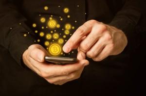 Bitcoins auf dem Handy speichern