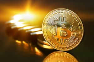 Goldener Bitcoin