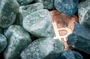 Bitcoin unter Steinen