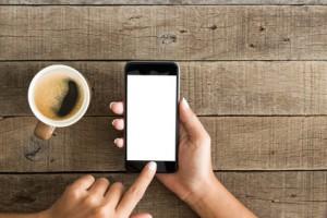 Smartphone wird gewäht