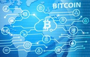 Bitcoin Electronic Crypto Currency Business Concept Background