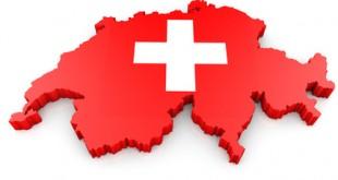 Umriss Schweiz 3D