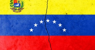 A crack in the wall. Flag of Venezuela