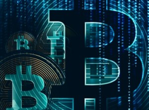 Concept Bitcoin 3D Background