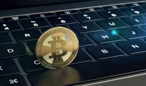 Bitcoin und Tastatur
