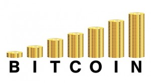 bitcoin with coin graph logo on a white background