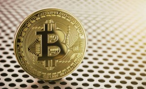 golden bitcoin. trading concept of crypto currency concept image