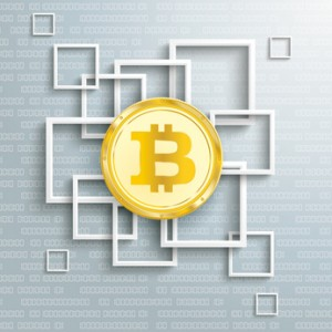 Squares Golden Bitcoin Data Blockchain