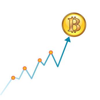 isolated Crypto coin bitcoin - digital currency, Cryptoactive