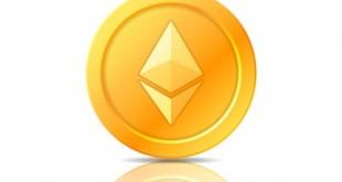 Ethereum coin symbol, icon, sign, emblem. Vector illustration.