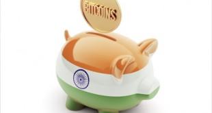India Bitcoin Concept Piggy Concept
