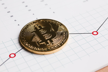 Coin crypto currency bitcoin against