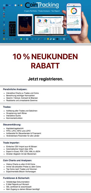 CoinTracking-Neukunden-Rabatt