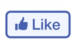 Thumbs up like button vector flat vector icon for social networks / social media apps and websites