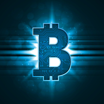 Bitcoin crypto currency sign