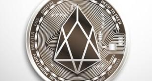 EOS silver coin.