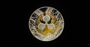 Digital currency physical metal golden ripple coin