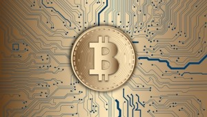 Illustration Bitcoin, Money, Golden Bitcoin, currency