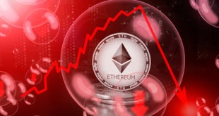 Ethereum (ETH) in a soap bubble. Risks and dangers of investing to ethereum. Collapse of the exchange rate. Unstable concept